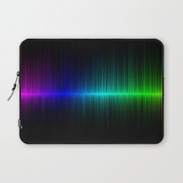 Rainbow Radio Waves Digital Illustration - Artwork Laptop Sleeve