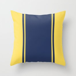 Yellow and Blue Pattern Throw Pillow