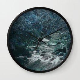Mossman Gorge in Blue Wall Clock