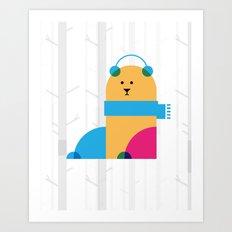 THE MISSING SCARF - Bear Art Print