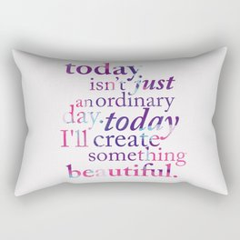 Today - Multicolor Rectangular Pillow