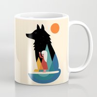 best friend Mugs featuring Best Friend by Andy Westface