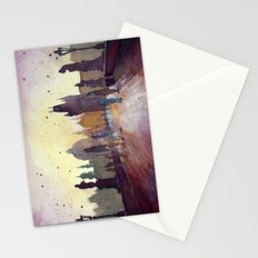 Prague, watercolor explorations in violet  Stationery Cards