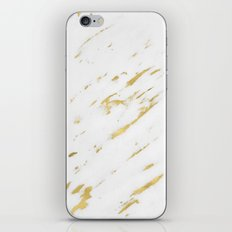 Marble - Yellow Gold Marble Design iPhone & iPod Skin