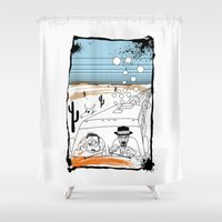fear and loathing Shower Curtains featuring Fear and Loathing in Albuquerque II by Evan