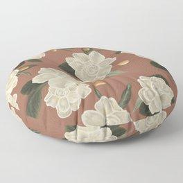Gardenia Garden Pinkish Pattern Floor Pillow