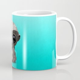 Cute Baby Honey Badger With Football Soccer Ball Coffee Mug