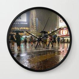 Rainy Night Tokyo Wall Clock