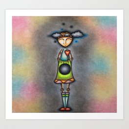 Clouds In My Mind And A Hole In My Gut Art Print