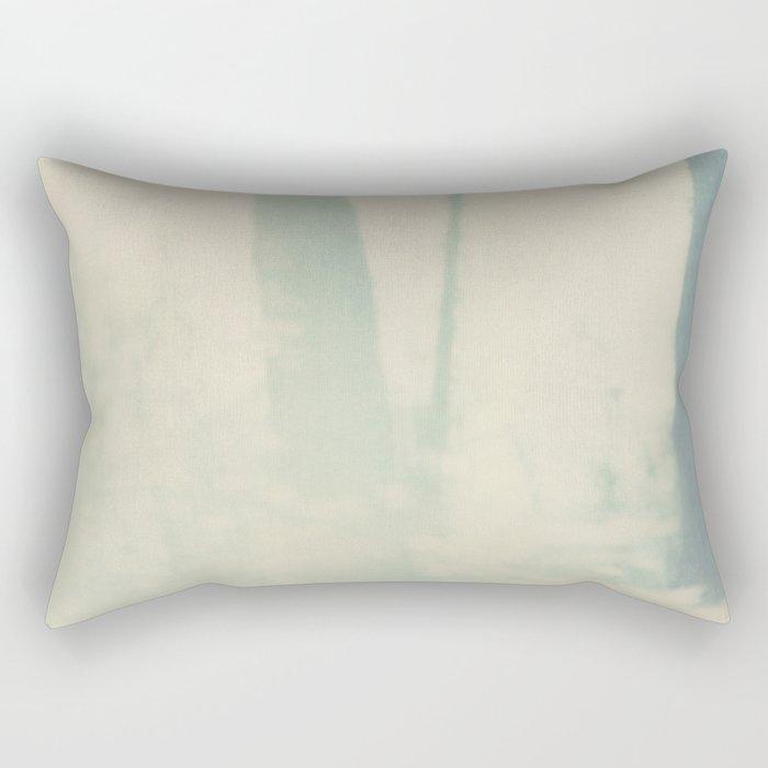 pale blue trees Rectangular Pillow