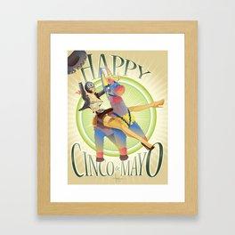 HAPPY CINCO! Framed Art Print