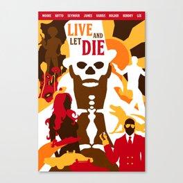 James Bond Golden Era Series :: Live and Let Die Canvas Print