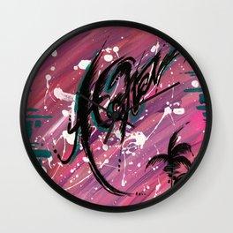 """""""ALOHA"""" Wall Clock"""