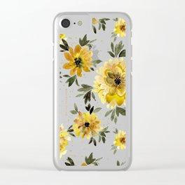 Sunflower Sparkle - black Clear iPhone Case