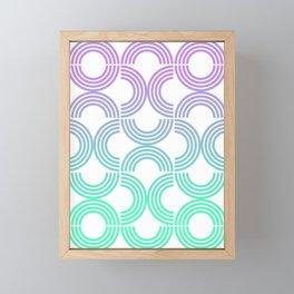 Deco Geometric 05A Framed Mini Art Print