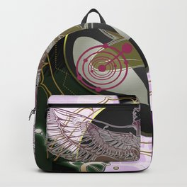 Diamond Fire Alien and the Isis Crop Circles Backpack