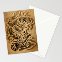 Hannya Dragon Stationery Cards