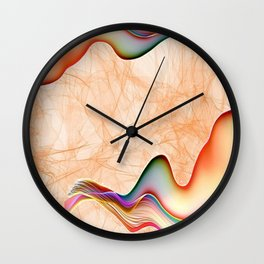 Fire & Heat Flames of Orange, Red, Yellow, Green, Soft Purple by Saletta Home Decor Wall Clock