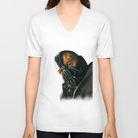 bane V-neck T-shirts featuring BANE by csmithart