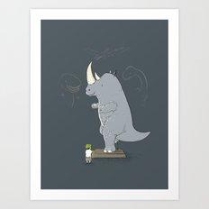 The Rhinosaurus Art Print