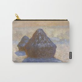 Haystacks, Snow Effect by Claude Monet Carry-All Pouch