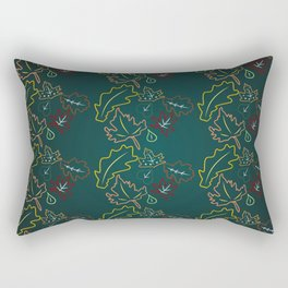 Leaf Pattern Rectangular Pillow
