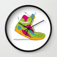 90s Wall Clocks featuring 90s shoe / throwback by Mychal Diaz