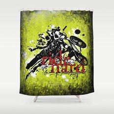 ride hard - BMX Shower Curtain