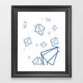 Diamonds in Zero Gravity Framed Art Print