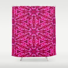 Pink Cabbage Rose Triangles 5072 Shower Curtain