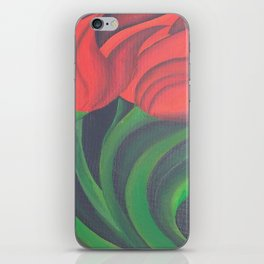 Red Tulip Diptych iPhone Skin