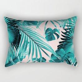 Tropical Jungle Leaves Dream #4 #tropical #decor #art #society6 Rectangular Pillow