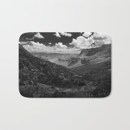 Dramatic Cloudy Mountain View at Lost Mine Trail, Big Bend Bath Mat