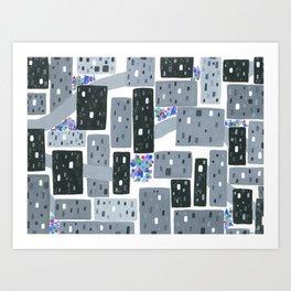 Occupy Movement Granules, Forgotten City, Metro Population < 500,000 Art Print
