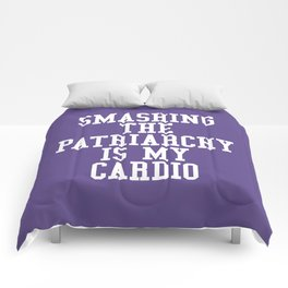 Smashing The Patriarchy is My Cardio (Ultra Violet) Comforters