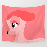 fawn Wall Tapestries featuring Pink Fawn by elekat