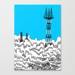 San Francisco - Sutro Tower (blue sky) Canvas Print