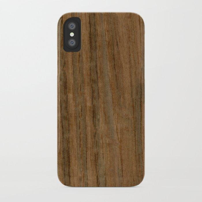 Etomie (Flat Cut) Wood iPhone Case