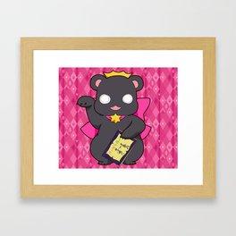 Lily Bear Ginko Framed Art Print