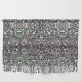 Sparkly colourful silver mosaic mandala Wall Hanging
