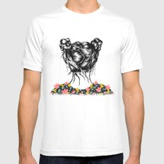Bloom Mens Fitted Tee White MEDIUM