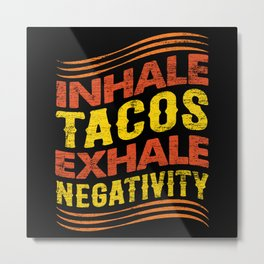 Taco Cooking Mexican Metal Print