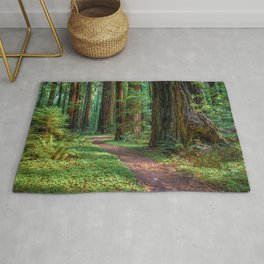 A Walk in the Redwoods Rug