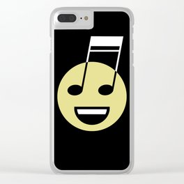 Musical smiley Clear iPhone Case