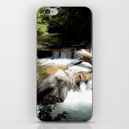 Fall Creek - Tumbling Down from Endlich Mesa, at 12,000 feet iPhone Skin