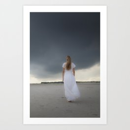 Waiting for the storm Art Print