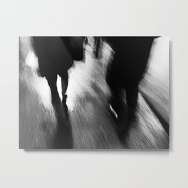 A Walk in the Rain Metal Print