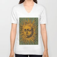 tarot V-neck T-shirts featuring Sun Tarot by phantastique