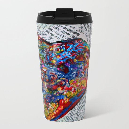YIN YANG WORDS Metal Travel Mug