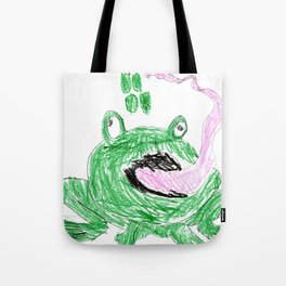 Frog Eating Some Grapes Tote Bag